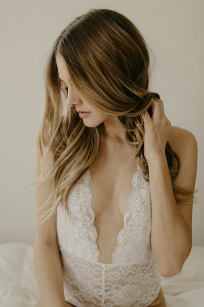 Ivory French Lace Bodysuit