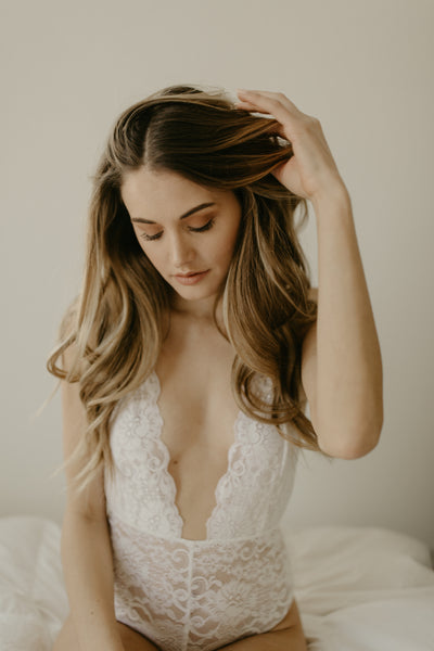 Ivory French Lace Bridal Bodysuit