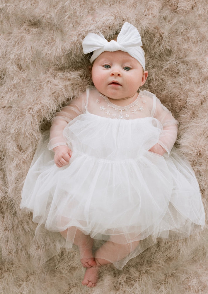 flower girl dress for infant