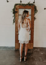 Plunging Lace Slip Dress