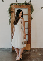Monroe Tea-Length Flirty Chiffon Dress