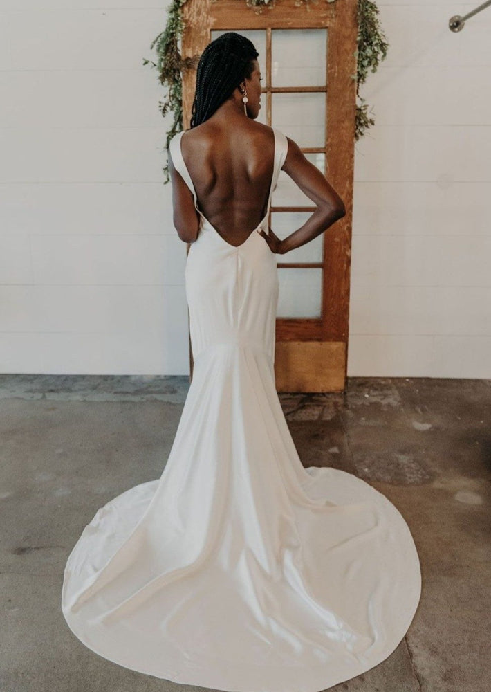 Sexy Silk Low Back Gown