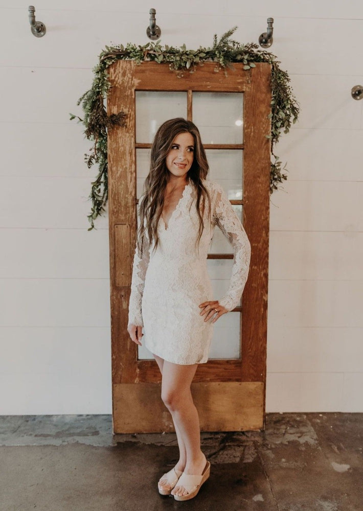 Boho Long Sleeve Lace Mini Dress