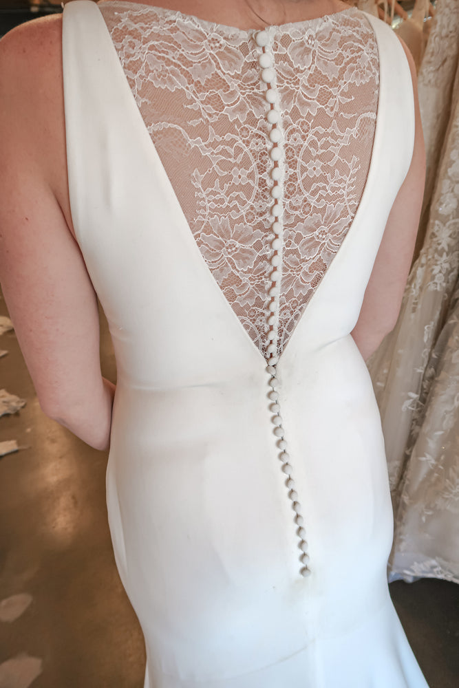 thick wedding dress material