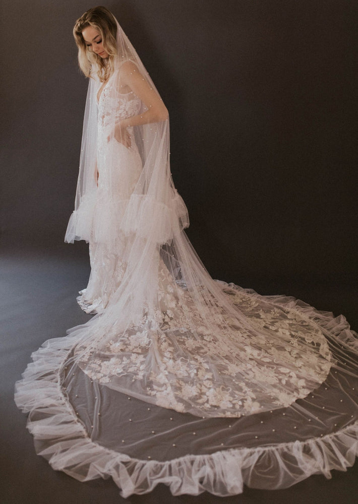 Cathedral Length Fiona Ruffle Veil