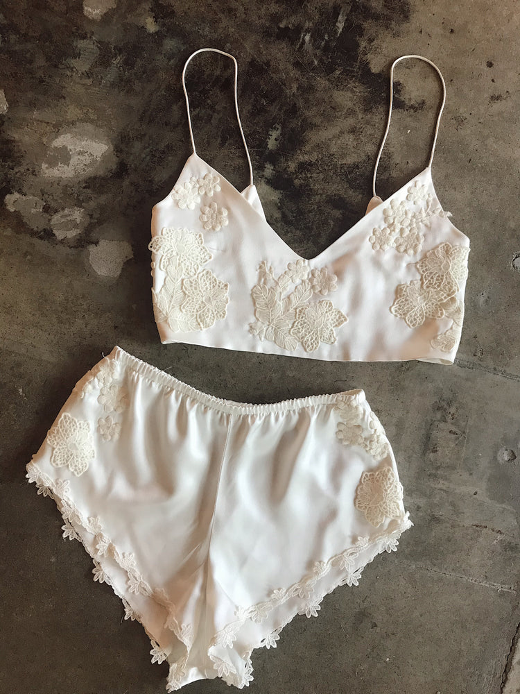 Silk & Lace Sleeper Set