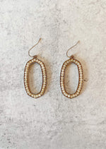 Beaded Oval Drop Earring