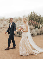 Denver High Neck Lace Bridal Gown