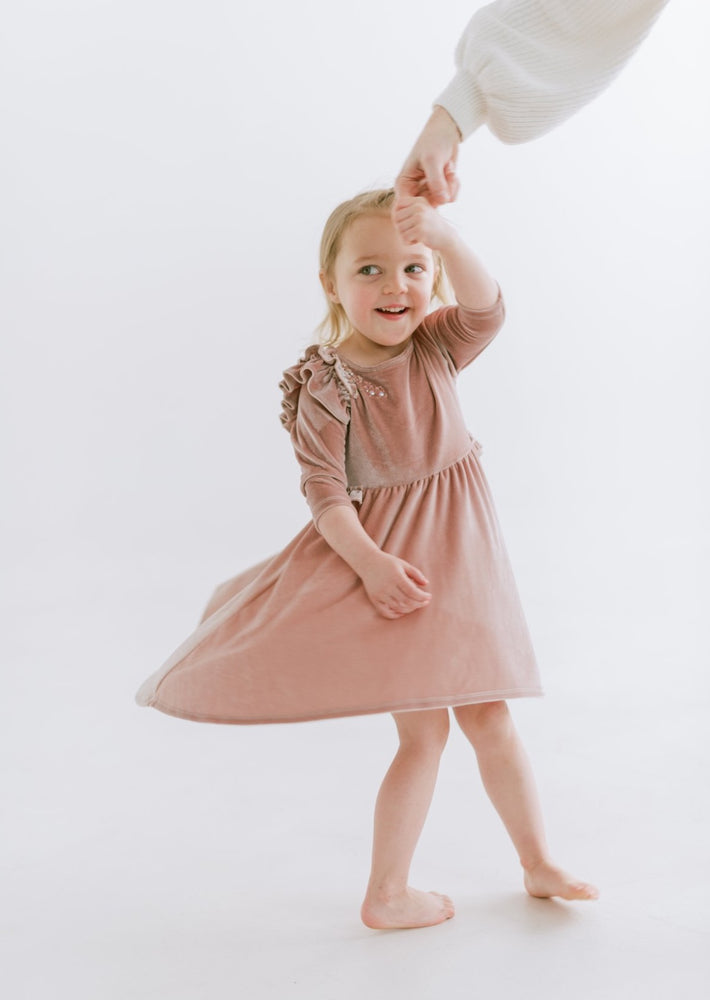 Velvet Flower Girl Dress