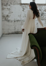 Long Sleeve A-Line Wedding Dress