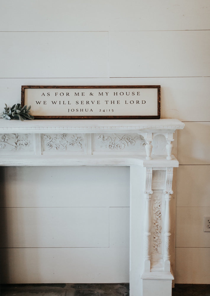 as for me and my house we will serve the lord wedding sign