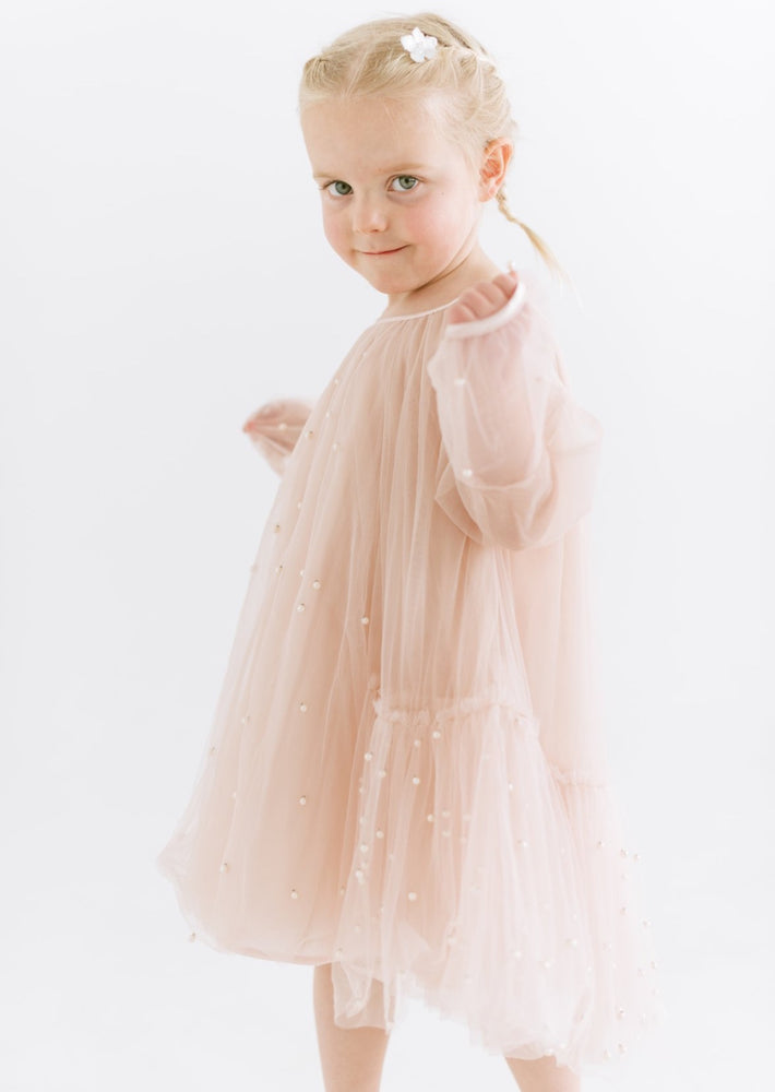 Flower Girl Dress with Pearls