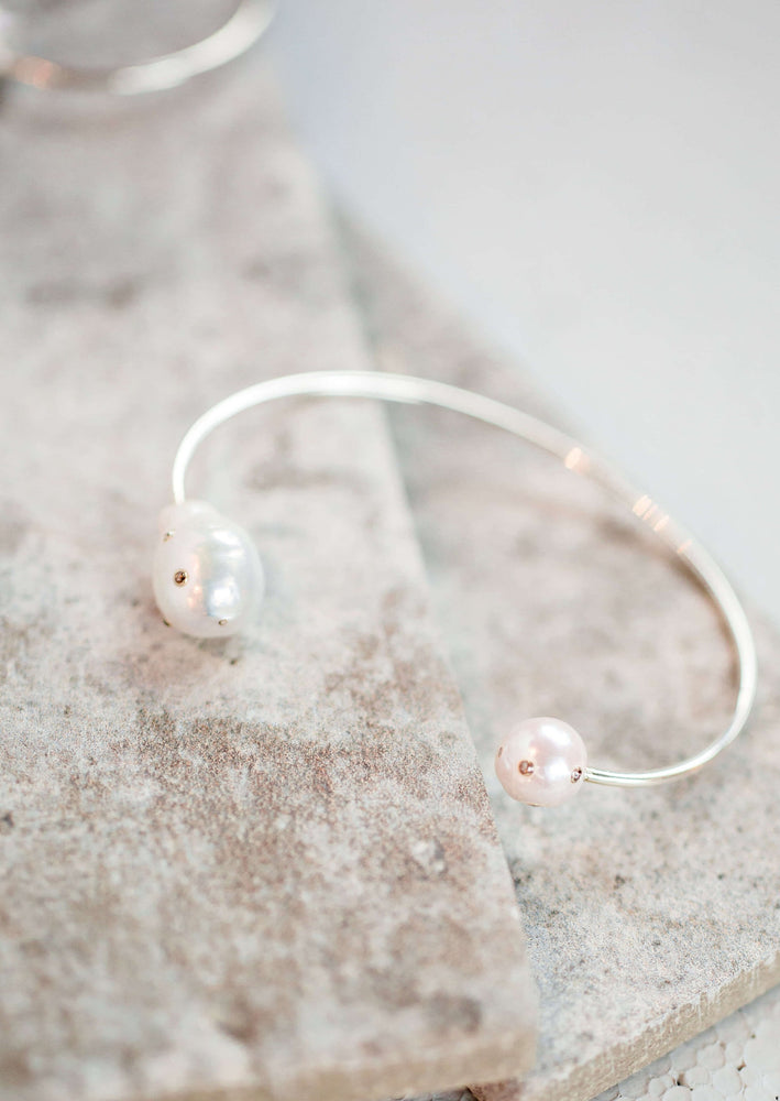 Double Freshwater Pearl Cuff
