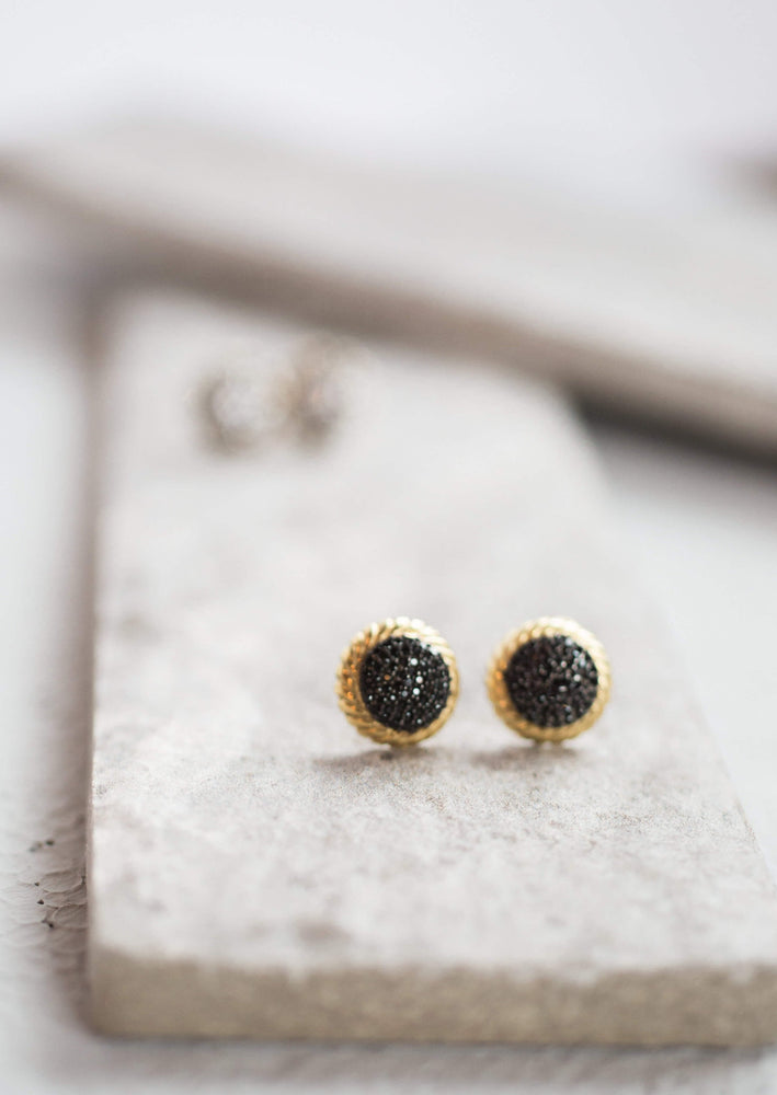 Pavé Twisted Stud Earrings