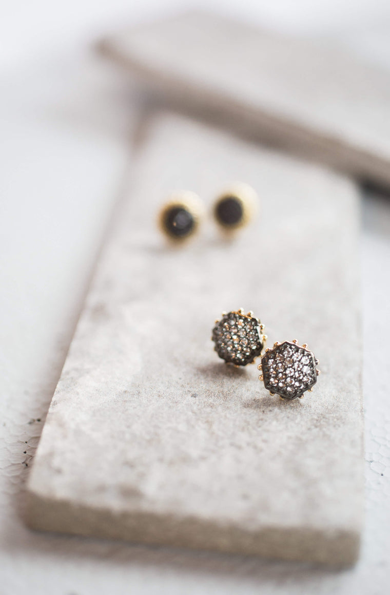 Positano Gold Stud Earrings