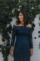 lace illusion neckline mother of the bride dress