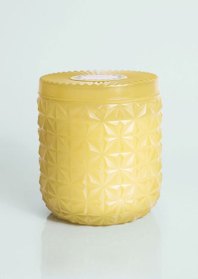 Aloha Orchid Jumbo Green Faceted Candle
