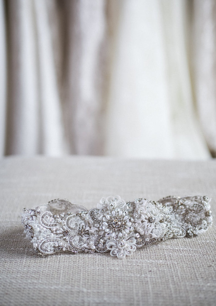 beaded wedding headband