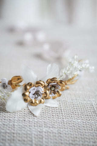 Petite Gold Bloom Halo
