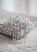 Leafy Silver Hair Comb