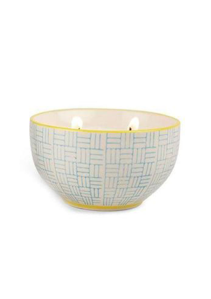 Jasmine + Bamboo Mini Painted Bowl Candle