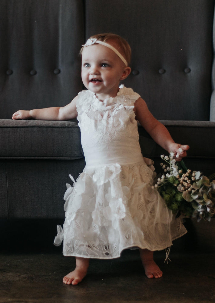 Clearance French Lace Flower Girl Dress
