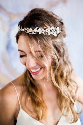 Gold and Silver Vine Headband