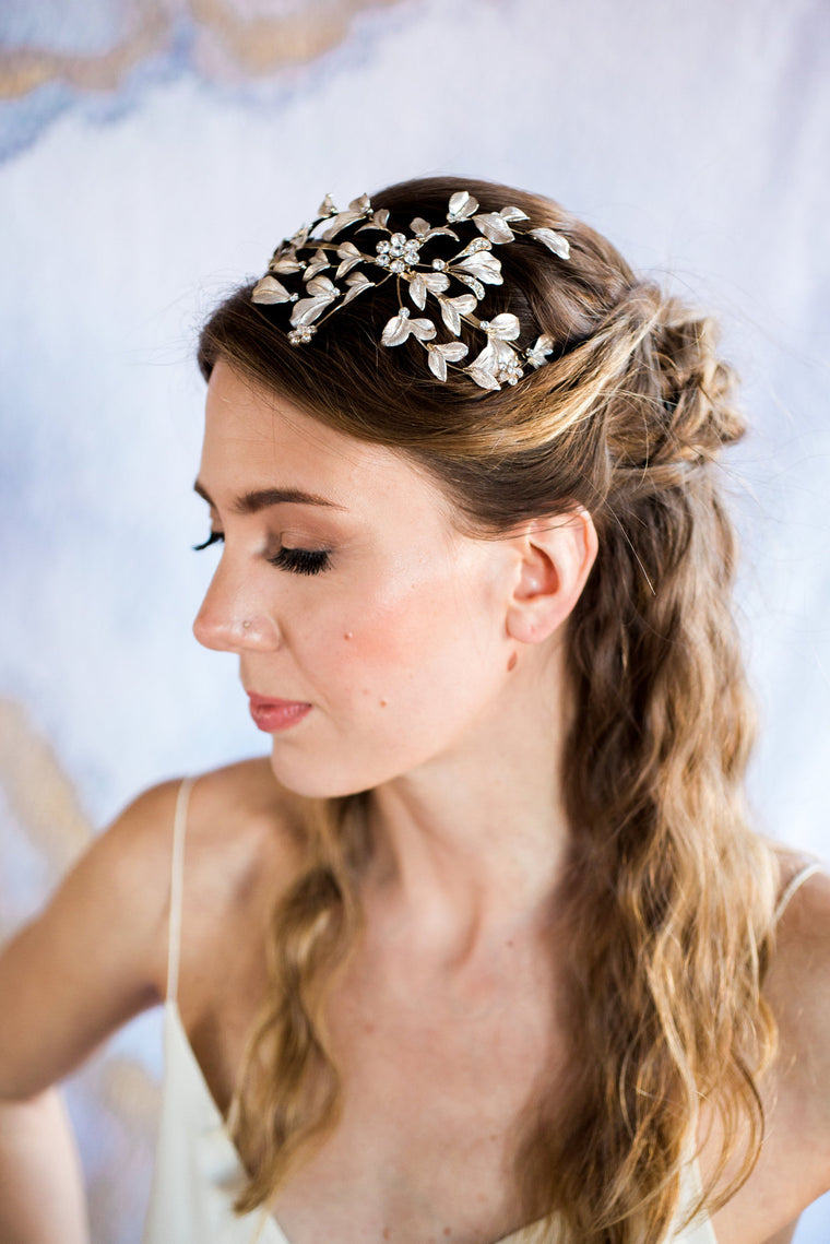 Metallic Bloom Headband