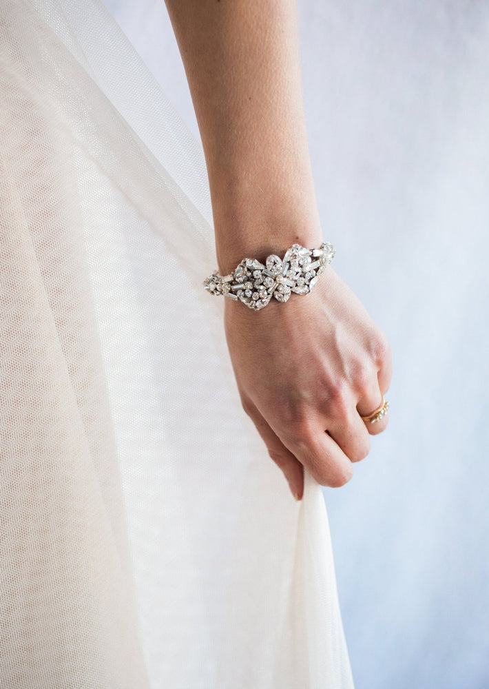 diamond cuff on model