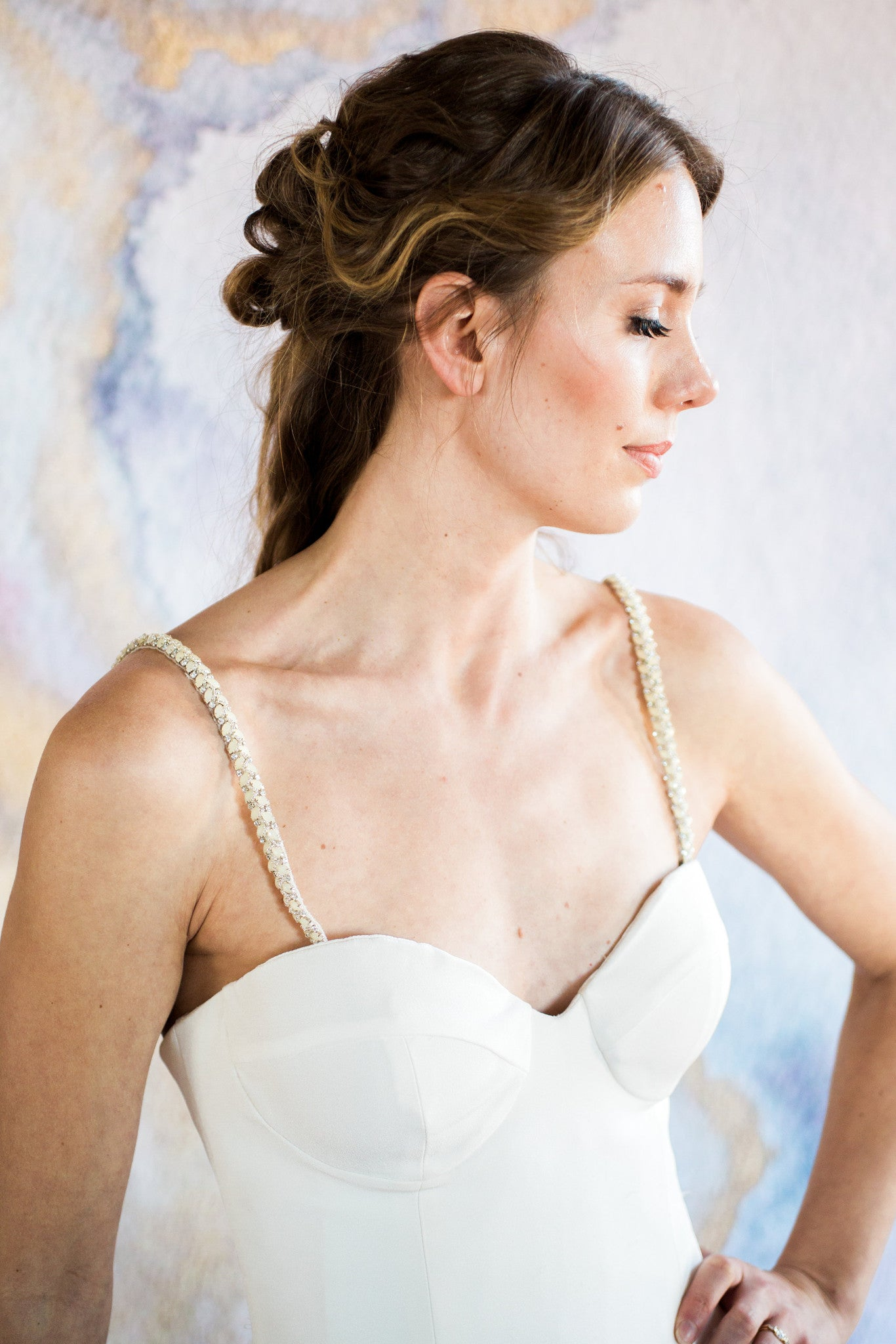 Thin Beaded Straps For Wedding Dress Bridal Accessories