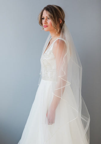 Brooke veil on model