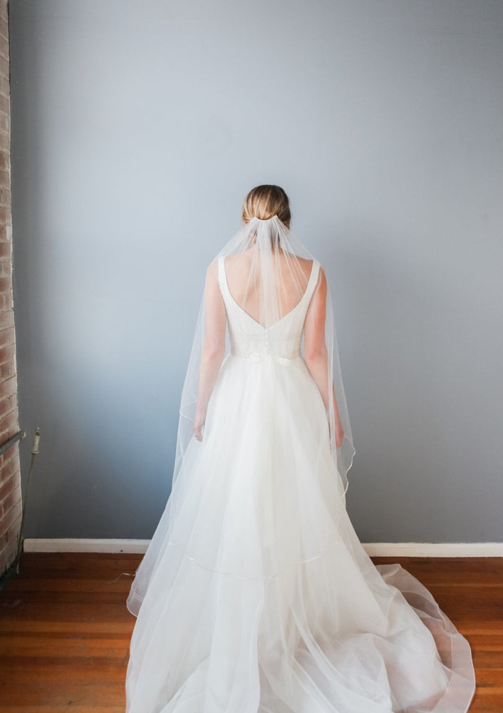 back of brooke bridal veil
