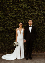 wedding dress with slit
