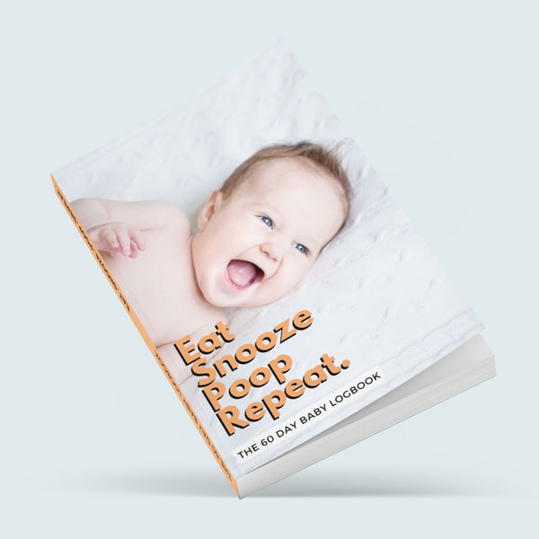 EAT, SNOOZE, POOP, REPEAT - 60 day baby sleep & food tracker, logbook, keepsake and diary