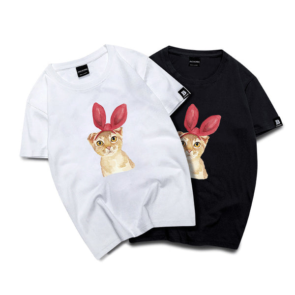Women Summer Novelty Tee Print T-shirts