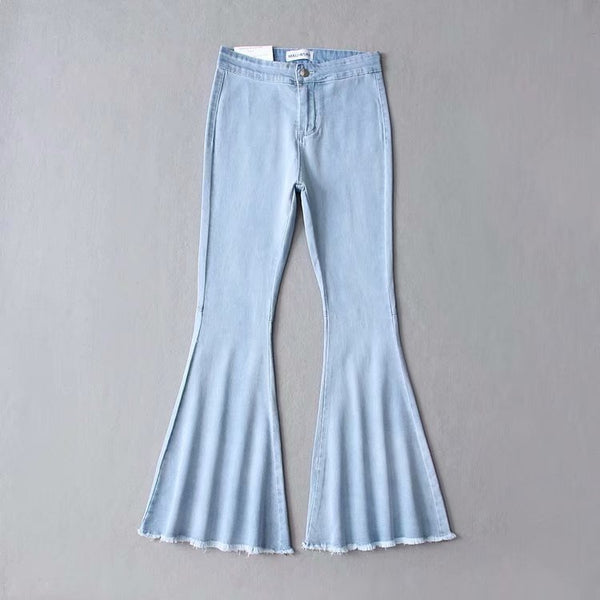 Women High Waist Slim Jeans