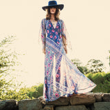 Women Summer printing V-neck Bohemia Dresses