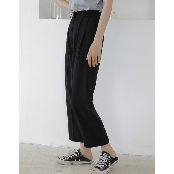 Women Fashion Solid Color Brief Straight Pants