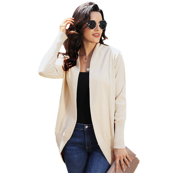 Women New Style Shawl Soft Open Front Long Sleeve Sweater Coats
