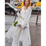 Women Hot Style Lace Fringed Casual Loose Cardigans