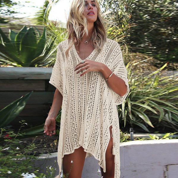 Women Knitting Hollow Crochet Beach Cover Ups