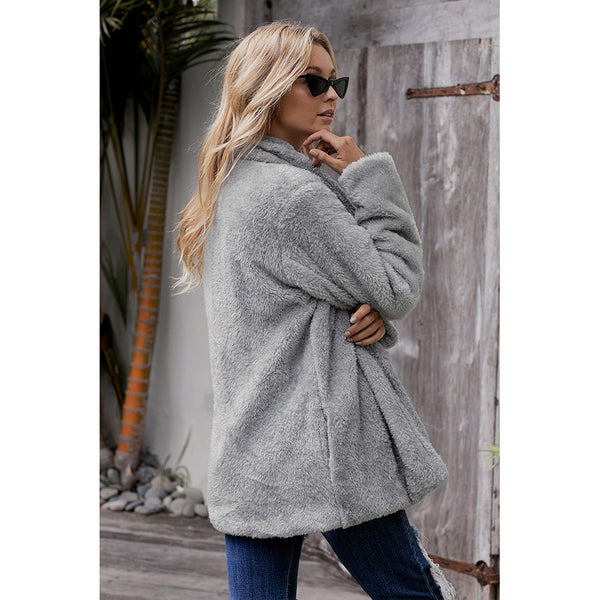 Women Chic Long Sleeve Turn Down Collar Casual Coats