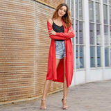 Women New Style Long Sleeve Loose Simply Sweater Cardigan