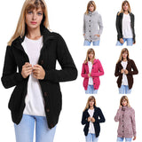 Women Casual Cardigan Hooded Long Sleeve Knitted Sweater