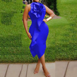 Women Fashion Sexy Irregular Solid Color Bodycon Dresses