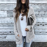 Batwing long Sleeve Knitwear Knitted Sweater Cardigan