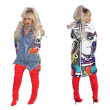 Women's Fashion Long Sleeve Denim Jacket