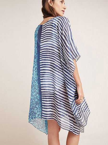 Women Summer Printed Loose Beach Skirt Bikini Cover-Ups