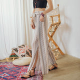Women New Fashion Chiffon Elegant Wide Leg Pants