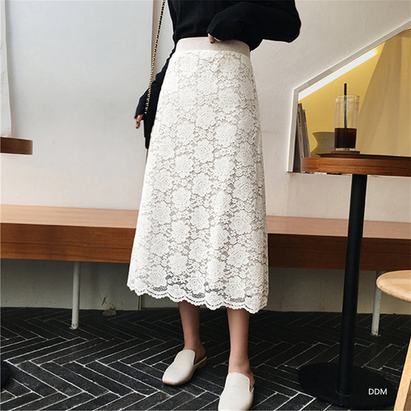 Women Summer New Stylish Lace High Waist Skirts